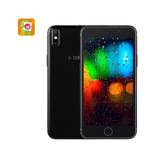 Auto-hightech Téléphone Android - Android 6.0, Quad-Core, écran 5 pouces, batterie 1950mAh, 3G, Dual-sim noir