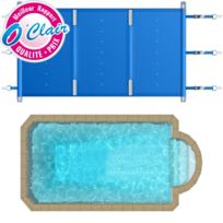 Piscine Center O'CLAIR - Bâche à barres Pool-Barres Plus rectangle pour piscine coque Piscine Provence Polyester S750