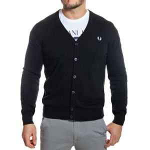 fred perry gilet cardigan homme k7212 en coton noir pas cher achat vente gilet homme. Black Bedroom Furniture Sets. Home Design Ideas
