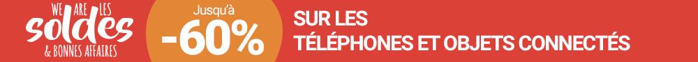 Bannière soldes janvier 2018 téléphonie et objets co