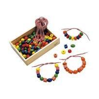Samsam - Sapin Malin Boîte de 125 Grosses Perles en Bois