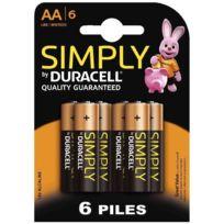 Duracell - blister de 6 piles 1.5v simply lr06 alcaline