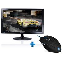 "Samsung - Ecran 24"" HD LED TN 1ms + souris G-LAB Kult80"