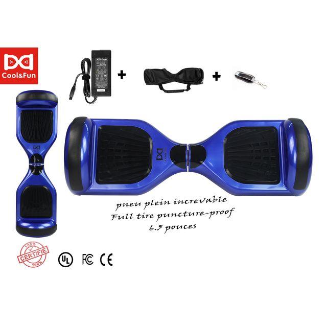 COOL AND FUN - Cool&FUN Hoverboard, Scooter électrique Auto-équilibrage,gyropode 6,5 pouces Bleu