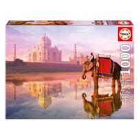 Educa - Puzzle 1000 pièces : Elephant et Taj Mahal