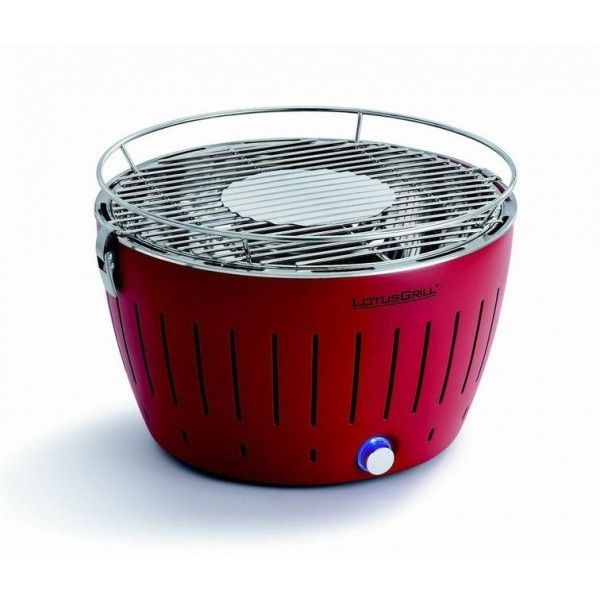 Lotusgrill - Barbecue de table Grill au Charbon Modèle 34 Cm Carmin