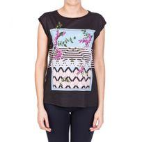 Guess - T-shirt Femme Wisteria Mood Noir
