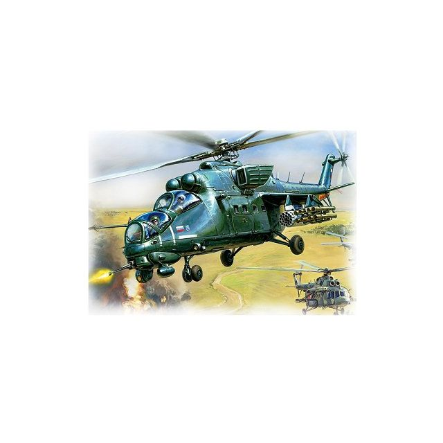 Zvezda Maquette hélicoptère : MiL Mi-35