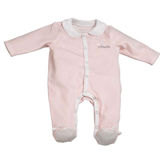 Sauthon - Pyjama bébé rose naissance Lilibelle - pas cher Achat ... fbf391f02a4