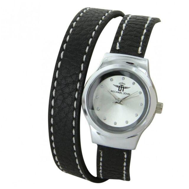 M John Montre Pour Femme Noir Double Bracelet M John 1055 Achat