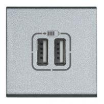 Bticino - chargeur usb 230v/5v 2 ports 2 modules living tech