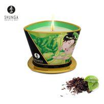 Shunga - Bougie de Massage Lueur et Caresse Thé Vert