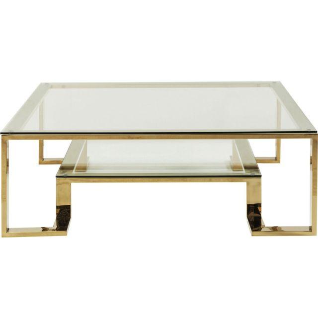 Karedesign Table basse Rush 120x120cm dorée Kare Design