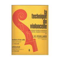 Edition Delrieu - La technique du violoncelle : Huit volumes d'études progressives choisies