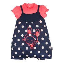Petit Beguin - Barboteuse + t-shirt bébé fille rose Minilutin - Taille - 3 mois 62 cm