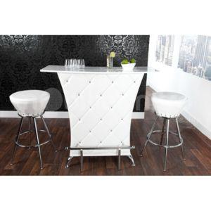 mobilier nitro bar design capitonn blanc quarto pas cher achat vente bars rueducommerce. Black Bedroom Furniture Sets. Home Design Ideas