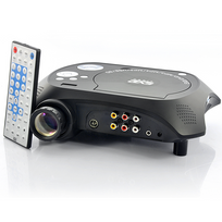 Auto-hightech - Video projecteur Multimédia Led avec lecteur Dvd - 480x320, 20 Lumens, 100: 1