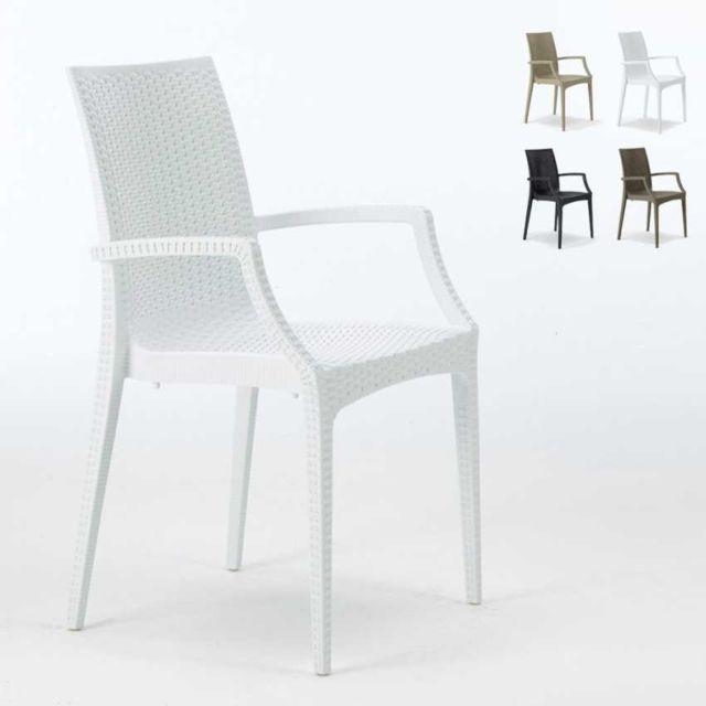 Grand Soleil 20 chaises de jardin accoudoirs fauteuil