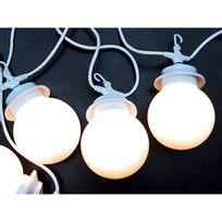 Lumisky - guirlande lumineuse d'extérieur 10 boules blanches 16.5m - g22/10