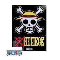 One Piece - Plaque métal Skull Luffy