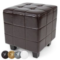 Miadomodo - Tabouret Chesterfield en 4 coloris marron