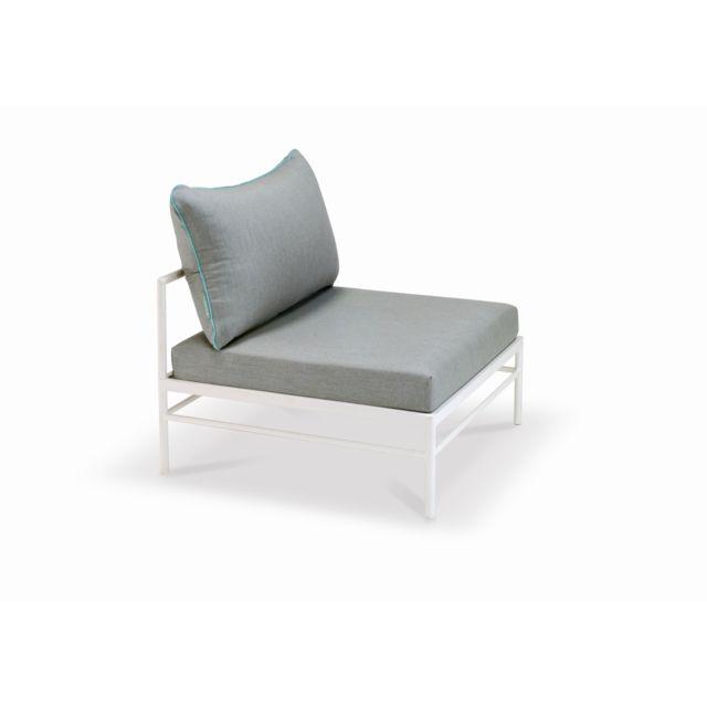 Vlaemynck Module du milieu Rivage - blanc - gris métallique/ gris clair