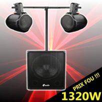 Ibiza Sound - Cube 1512 pack amplifié 1320w avec caisson amplifié - enceintes pro à prix fou