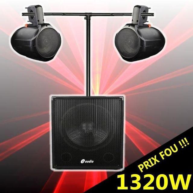 Ibiza Sound Cube 1512 pack amplifié 1320w avec caisson amplifié - enceintes pro à prix fou