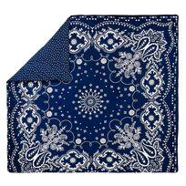 Bensimon x - Housse de couette Bandana en Percale de coton Bleu - 200 x 200 cm