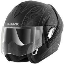 Shark - casque intégral modulable en jet Evoline 3 Mezcal Kas moto scooter noir gris mat Xl