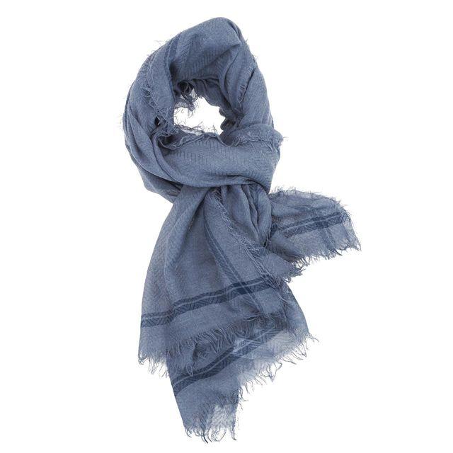 Jack   Jones - Foulard Jack and jones Washed woven scarf blue Bleu 33360 - pas  cher Achat   Vente Echarpes - RueDuCommerce dddcb13b5ff