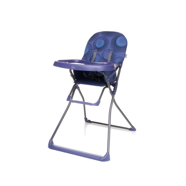 4baby flower chaise haute b b pliable et l g re avec plateau violet pas cher achat vente - Chaise haute bebe pliable ...