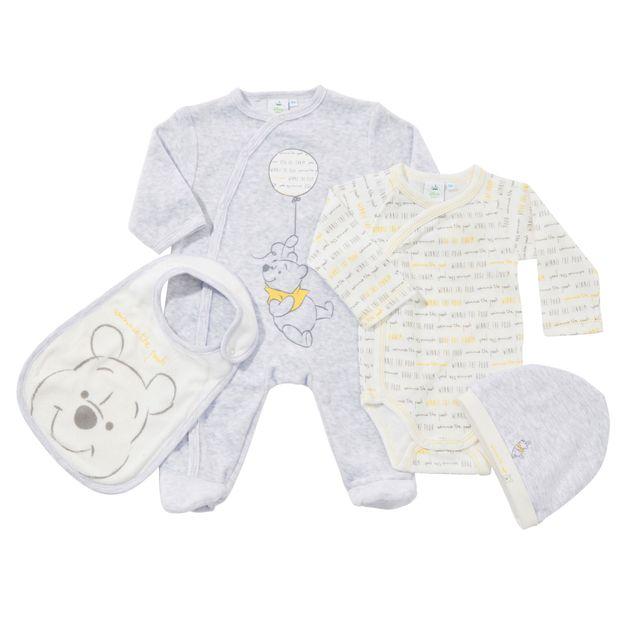 DISNEY - Trousseau naissance bébé WINNIE 4 pièces - pas cher Achat ... 0e8d8583878