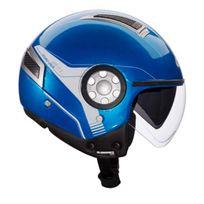 Givi - casque jet moto scooter 11.1 Air Jet urbain bleu métal S