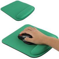 Yonis - Tapis de souris ergonomique repose poignet ultra fin vert