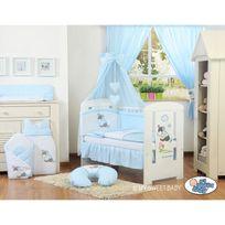 Autre - Lit et parure de lit bébé âne bleu ciel de lit coton 140 70