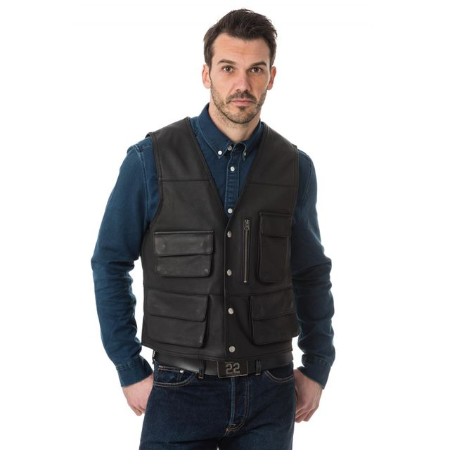 gilet sans manche en cuir pour homme yiiquan homme pull sans manches avec col v gilet tricot. Black Bedroom Furniture Sets. Home Design Ideas