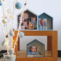 Artemio - 3 étagères maison en bois