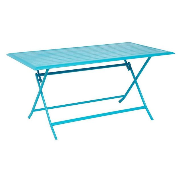 Hespéride Table aluminium Azua 6 places bleu lagon