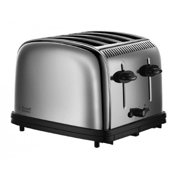 russell hobbs grille pain 4 fentes 1670w chester classic inox 23340 56 pas cher achat. Black Bedroom Furniture Sets. Home Design Ideas