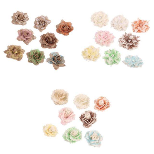 Fleurs de toile de jute artisanat en vrac