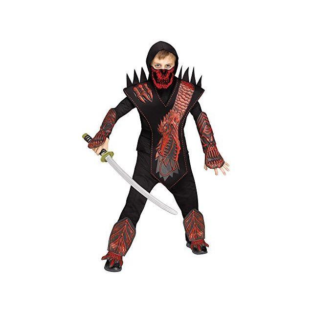 Fun World Skeleton Dragon Ninja Red Costume Medium 8 - 10 Multicolor