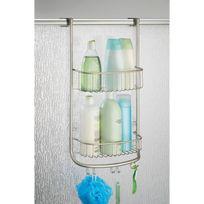 Interdesign - Serviteur de douche à accrocher en métal satiné 2 étagères H.66.5cm Forma