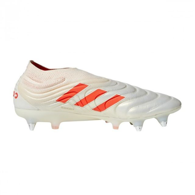 Chaussure de foot adidas Copa 19+ FG Off white Solar red Off
