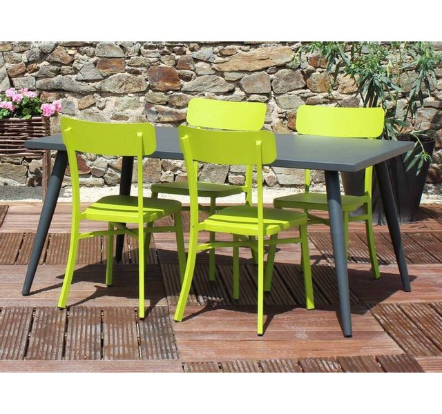 RESIDENCE - Salon de jardin MICA anthracite - Couleur - Vert - pas ...