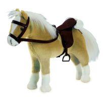 Gotz - Accessoires de poupées : Götz Boutique : Peluche Cheval articulé avec sel et harnais : Halfinger