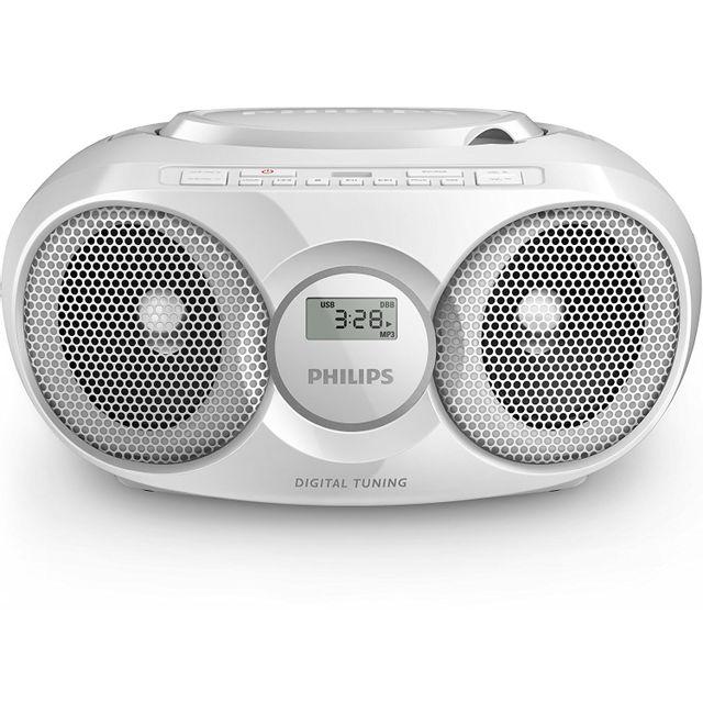 philips az318w 12 radio radio r veil lecteur cd mp3 port. Black Bedroom Furniture Sets. Home Design Ideas