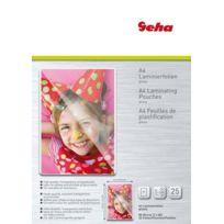 Geha - Pack de 25 feuilles de plastification A4 80 microns Import Allemagne