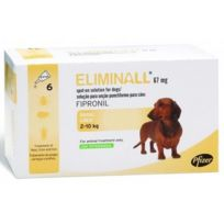 Zoetis - Pack 4 X Eliminall Chiens 2-10 Kg 67 Mg 6 Pipetes