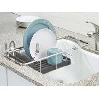 Interdesign - Egouttoir extensible pour évier en métal et plastique 42.5x24.25x10.75cm Metro